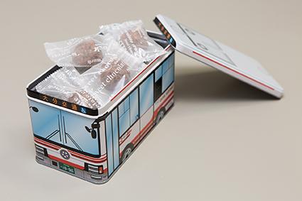 大分交通 120周年記念 バス缶チョコクランチ