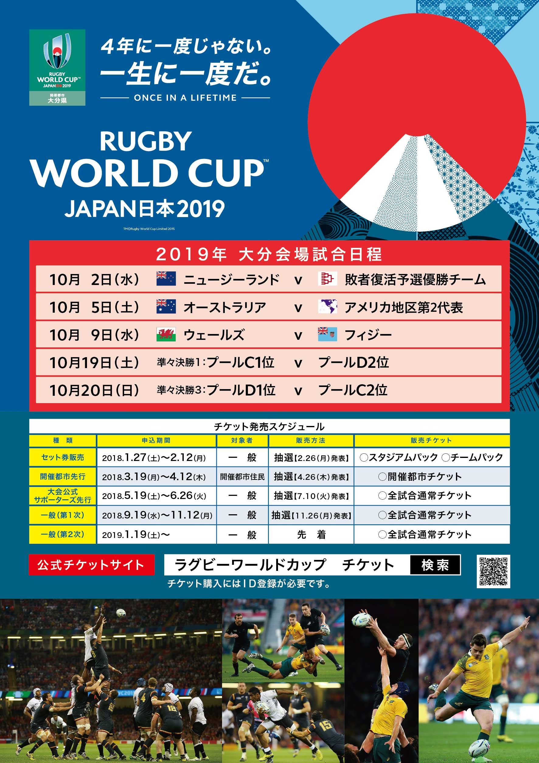 大分県 ラグビーワールドカップ2019 ポスター